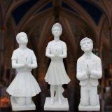 Statua bianca della st Mary del marmo, scultura religiosa T-6810 della statua