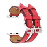 cinghie di vendita calde 42mm di modo di 38mm le doppie progettano il cinturino di vigilanza di cuoio nero del Apple
