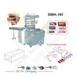 Swh7017ウエファーのビスケットのエンベロプ形式の自動パッキング機械