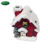 Warm en glans het Ceramische Huis van Kerstmis voor de Decoratie van de Vakantie