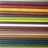 Piel artificial de la cera del petróleo para los muebles, sofá (498#)
