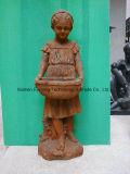 De kleine Kinderen die van het Beeldhouwwerk van het Beeldhouwwerk van de Jongen Westelijke Hand het Gesneden Marmeren Snijden van de Baby van de Steen voor Tuin snijden