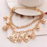 braccialetto a più strati Pendant del cuore dei monili della catena dell'oro dei monili di modo 2017new