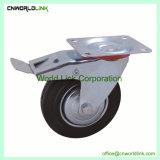 Stahl PU-feste industrielle Rollen-Hochleistungsfußrollen-Rad