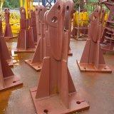 탑 기중기 기초 담합 각 또는 금속 프레임 조정 다리 또는 차축 중국제