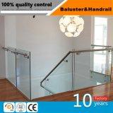 Edelstahl-Dekoration-Handlauf mit ausgeglichenem Glas für Gebäude