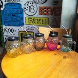 Frasco de vidro de venda quente de frasco de pedreiro com punho
