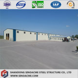 """Construction préfabriquée d'entrepôt de structure métallique de panneau """"sandwich"""" de l'Ouganda"""