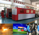 Machine de découpage bon marché de laser de commande numérique par ordinateur de plaques en métal de haute précision avec la couverture de protection