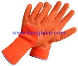 La doublure acrylique de 7 mesures, le Terry épais supplémentaire tricotés et ont balayé, enduit de latex, gants de 3/4 de pli sûreté de fini