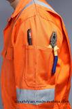 Пламя безопасности - Coverall Workwear retardant 88%Cotton 12%Nylon с отражательной лентой (BLY1014)