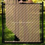 Clôture en métal recouvert de PVC Clôture de jardin pour des résidences privées
