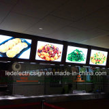 Menu Board Fast Food para equipamento de restaurante Light Box