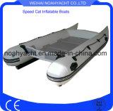 PVC o barcos de pesca inflables de la velocidad de Hypalon con el suelo de aluminio
