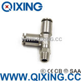 Tee Copper / Stainless Steel Metal Fast Connect Air Fittings