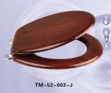 TM52-003Madera maciza asiento del inodoro