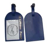 عادة عميق زرقاء حقيبة بطاقة جلد [بدج هولدر]