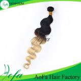 Tessuto del Virgin di modo, capelli del tessuto di Ombre, parrucca dei capelli umani