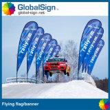 Bannières volantes imprimées pleine couleur de 4,5 m pour les événements sportifs