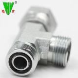 China adaptadores hidráulicos proporcionan la manguera hidráulica de la empresa adaptadores adaptador en T
