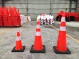 30cm, 45cm, 70cm, cône de sûreté de cônes de circulation de PVC de 90cm