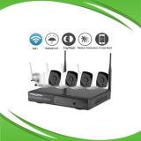 4CH câmara IP sem fio e sistema NVR