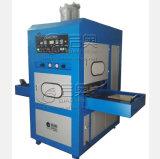 Máquina plástica de alta freqüência da soldadura e de estaca para a fatura de couro da tampa