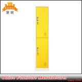 Mobiliário de bricolage metálicas de aço 2 Portas Armário para armazenamento de Estudante Locker
