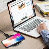 Teléfono celular de Qi USB cargador inalámbrico para el iPhone Samsung cargador inalámbrico Pad