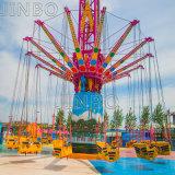 El Equipo de Parque de Atracciones de la emoción de volar volar torre gigante silla columpio Challenger de la torre