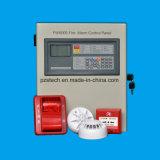Todos os edifícios do hotel e o painel de controle de alarme de incêndio endereçáveis e Sistema de Alarme de Incêndio