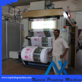 4 цветов не тканый мешок Flexographic печатной машины
