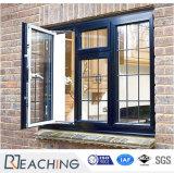 Черный цвет алюминия дверная рама перемещена стекло окна для дома