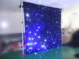 Черный бархатными шторами LED Star шторки для свадебное оформление