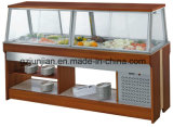 Het marmeren Buffet van de Staaf van de Salade van het Type van Eiland voor restaurant