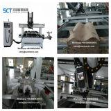 3D表の足の切り分けることのためのマルチ回転式の木製の彫刻の彫版CNCのルーター機械