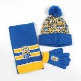 Insiemi lavorati a maglia acrilici di inverno dei bambini di promozione (cappello, sciarpa, guanti) con la richiesta dell'OEM