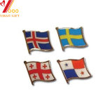 Custom Soft Épinglette Enaml drapeau métallique