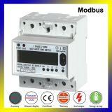 Коммуникационный порт RS485 одна фаза универсальный счетчик электроэнергии