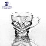 Tazza di tè di vetro della METÀ DI incisione libera orientale con la maniglia