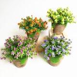 Зеленый искусственные цветы бонсай интерьер свадебный декор Свадебный букет