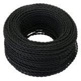 Großhandelsfarbe geflochtener verdrehter des DIY Lampen-elektrischen kabel-2*0.5mm Kern-Kabel-Draht Gewebe-Baumwolldes netzanschlußkabel-2