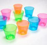 De plástico duro de 1oz Shot gafas, un surtido de Neon