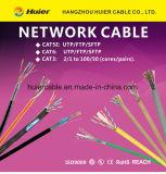 Cable del CCTV Cat5e con los alambres de la potencia 2DC para el sistema de seguridad