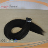 Black Color 100% Hot Selling Straight Style Prebonded I-Tip Extension de cheveux