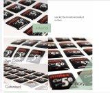 Epoxy Pegatina Impresión personalizada Epoxy Etiqueta, Impresión de la etiqueta Eco-Friendly Elipse Cristal Epoxy