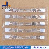 Autocollants personnalisés Étiquette d'étiquette UHF RFID pour les éléments de moniteur