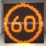 Pantalla de visualización al aire libre variable de LED P10 de las señales de tráfico del límite de velocidad