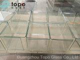 vidro de flutuador desobstruído da folha de 1.9mm-25mm para a parede de cortina de vidro (W-TP)