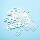 Weißer quadratischer Form-Kleid-Plastikclip für Kleidung (CD019-1)